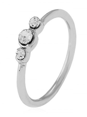 Discount Rhinestone Decorated Alloy Ring