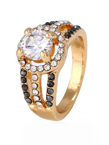 Unique Rhinestone Decoration Hollow out Ring