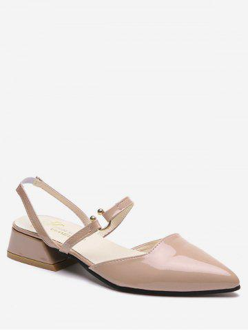 Fancy Low Heel Elastic Band Pointed Toe Leisure Sandals