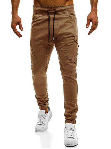New Drawstring Pockets Cargo Pants