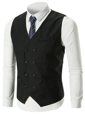 Shop Classic Belt Design Double Breasted Waistcoat
