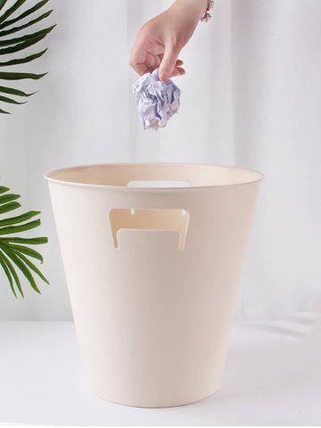 Outfit Durable Round Solid Color Trash Bin