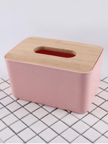 Fashion Rectangle Facial Tissue Box with Wooden Lid