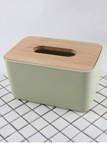 Shops Rectangle Facial Tissue Box with Wooden Lid
