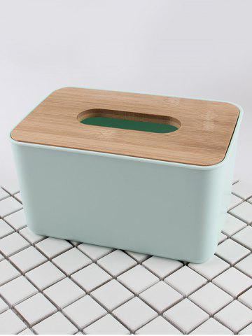 Sale Rectangle Facial Tissue Box with Wooden Lid