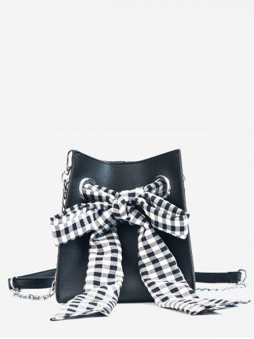Shops Bucket Leisure Checkered Bow 2 Pieces Crossbody Bag Set