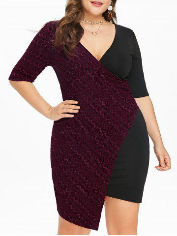 Buy Plus Size Surplice Bodycon Dress