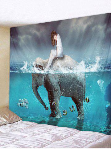 New Water Elephant Woman Wall Tapestry Hanging Decoration