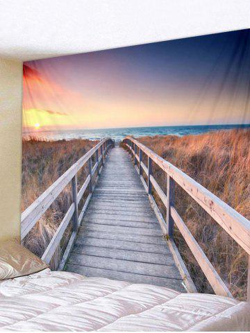 Fancy Sunset Scene Printed Wall Tapestry Hanging Decoration