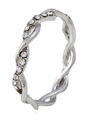 Chic Rhinestone Decoration Twist Ring