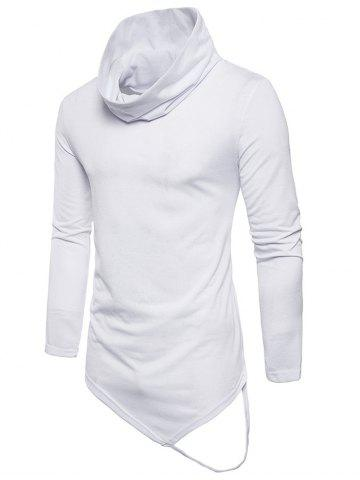 Hot Long Sleeve String Decorated Hem Tee