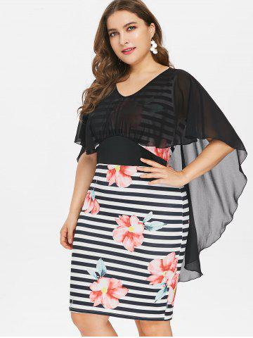 Plus Size High Low Caplet Bodycon Dress