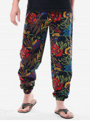 Ethnic Floral Print Sweatpants -