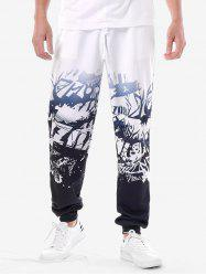 High Waist Printed Track Pants -