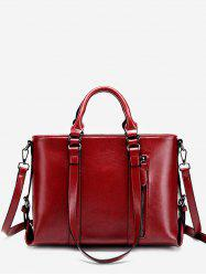 Minimalist Practical PU Leather Chic Tote Bag -