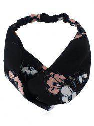 Flower Printed Elastic Hair Band -