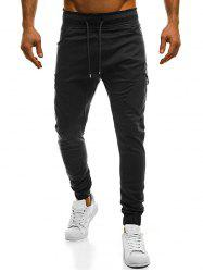 Drawstring Pockets Cargo Pants -