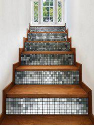 Square Grid Print Decorative Stair Stickers -