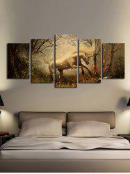 Forest Unicorn Print Unframed Split Canvas Paintings -