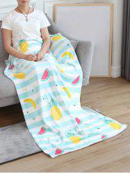 Pineapple Banana Watermelon Print Flannel Soft Bed Blanket -