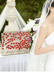 Heart Sign Wooden Wishing Tree Wedding Decoration Set -