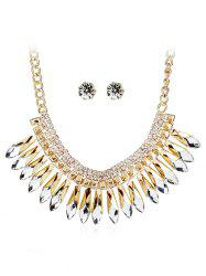 Unique Faux Crystal Rhinestone Wedding Party Jewelry Set -