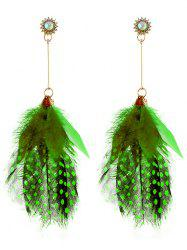 Серьги Rhinestone Fuzzy Feather Fringed -