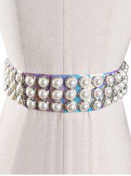Unique Faux Pearl PVC Jelly Waist Belt -
