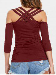Strappy Cut Ruched T-shirt -