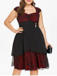 Rosegal Plus Size Mother of The Butterfly Print Bride Dress -