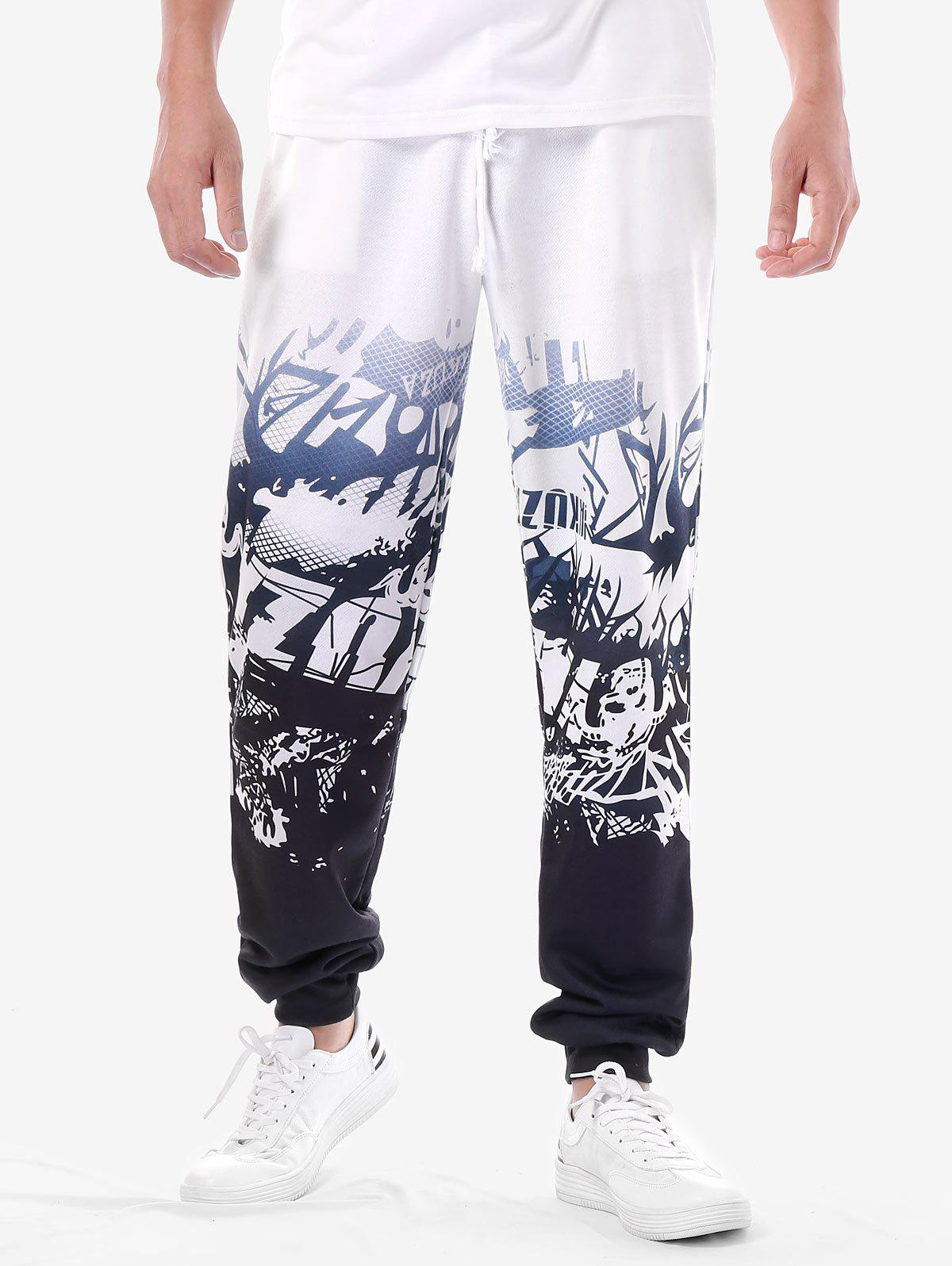 Sale High Waist Printed Track Pants