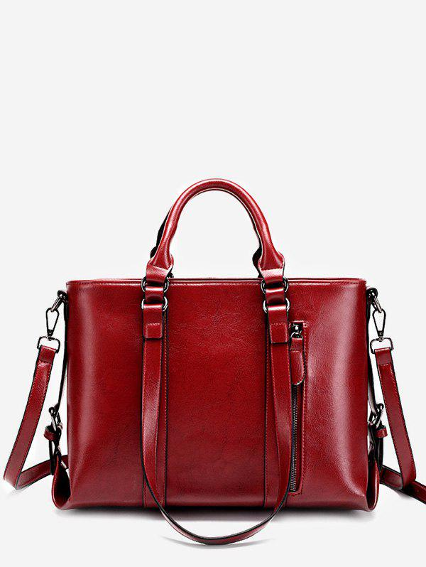 Buy Minimalist Practical PU Leather Chic Tote Bag