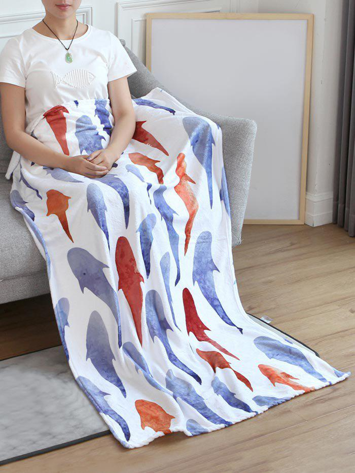 Outfit Fish Print Flannel Soft Bed Blanket