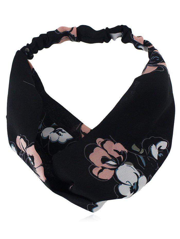 Shop Flower Printed Elastic Hair Band