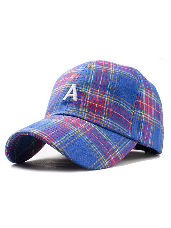 Affordable Vintage Letter A Embroidery Plaid Baseball Cap