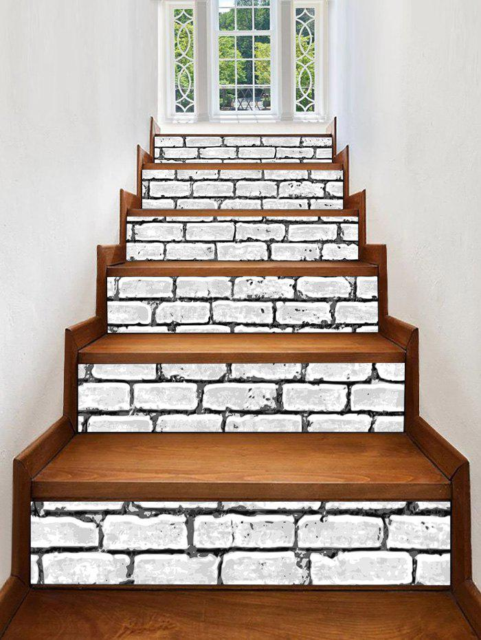 Fashion Brick Wall Print Decorative Stair Stickers