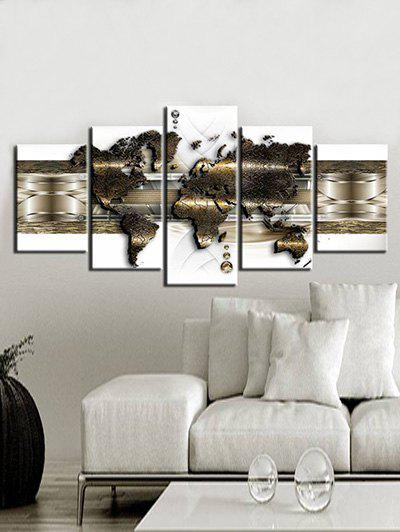 Outfit Simple World Map Print Unframed Split Canvas Paintings
