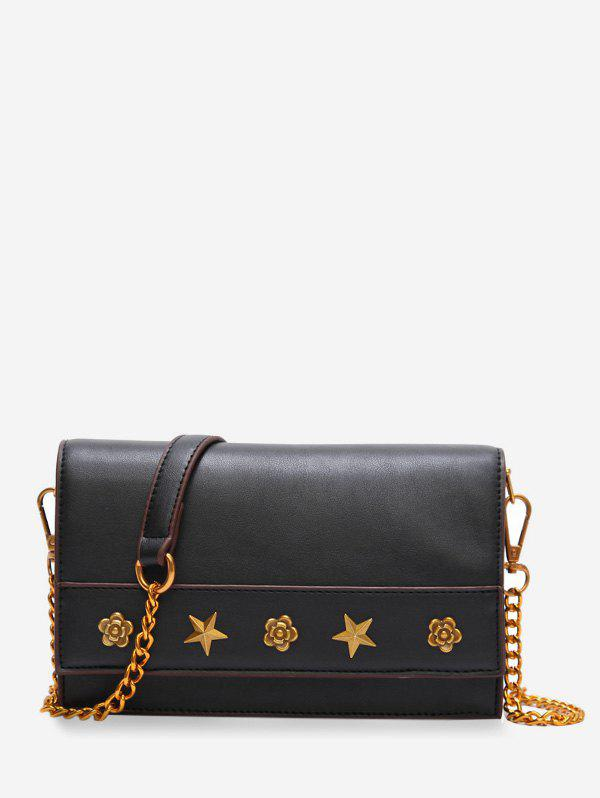 New PU Leather Rivets Flapped Vintage Crossbody Bag