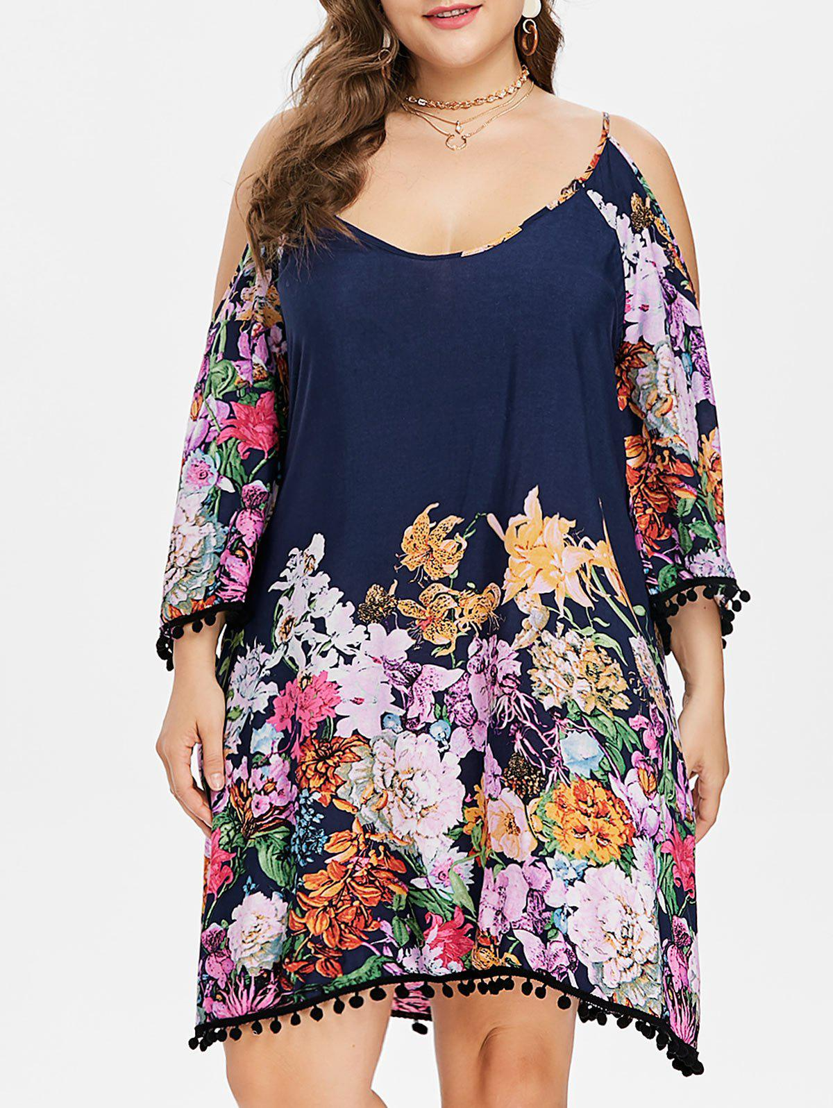 Buy Plus Size Floral Knee Length Shift Dress