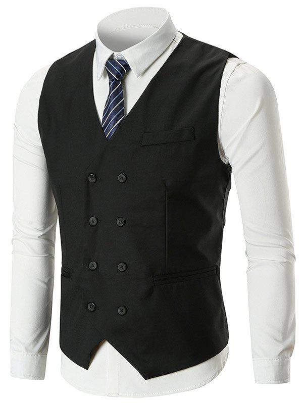 Store Classic Belt Design Double Breasted Waistcoat