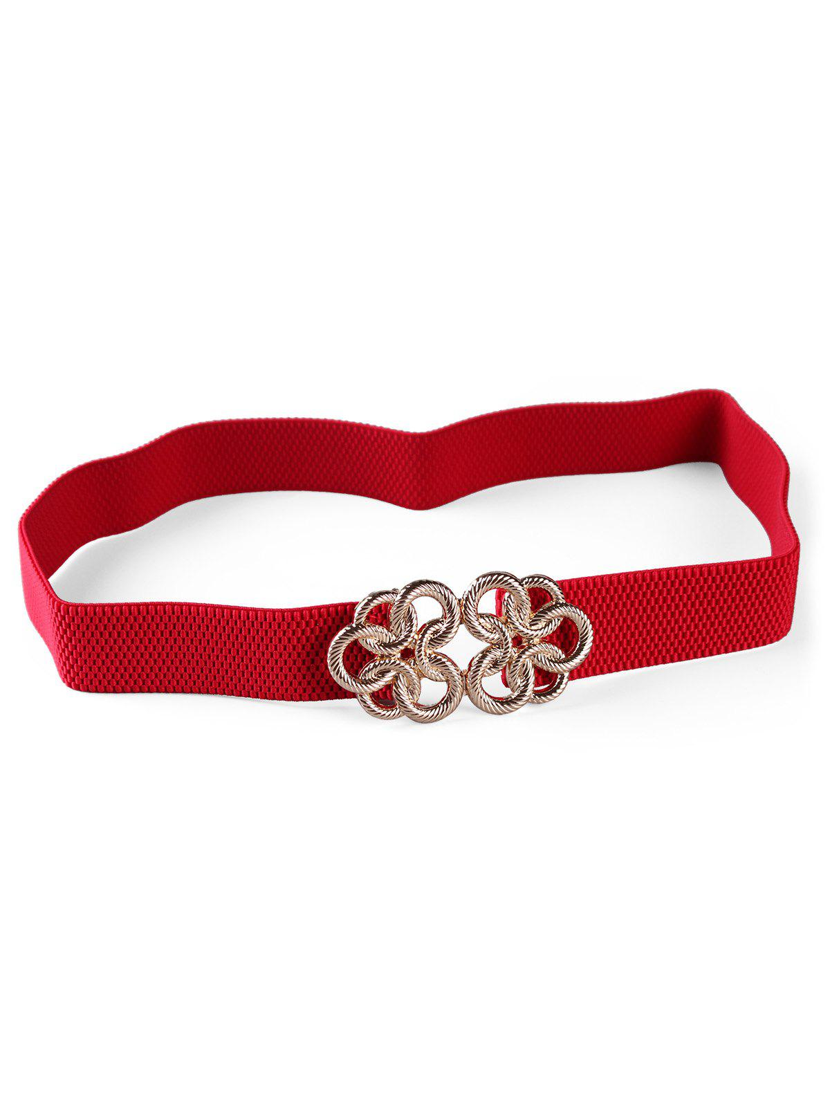 Fashion Stylish Metal Buckle Elastic Stretch Waist Belt