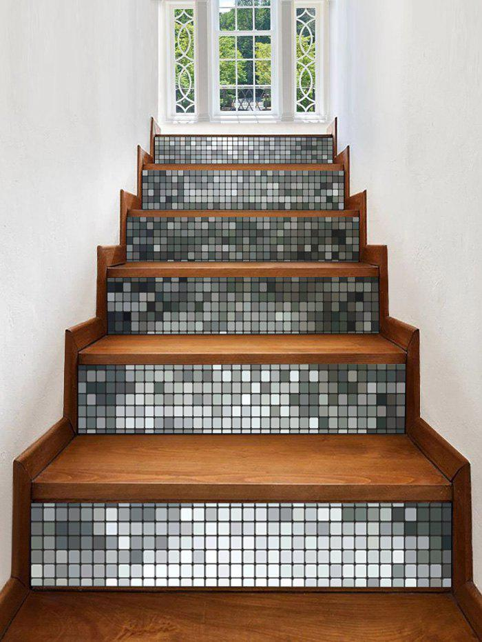 Discount Square Grid Print Decorative Stair Stickers