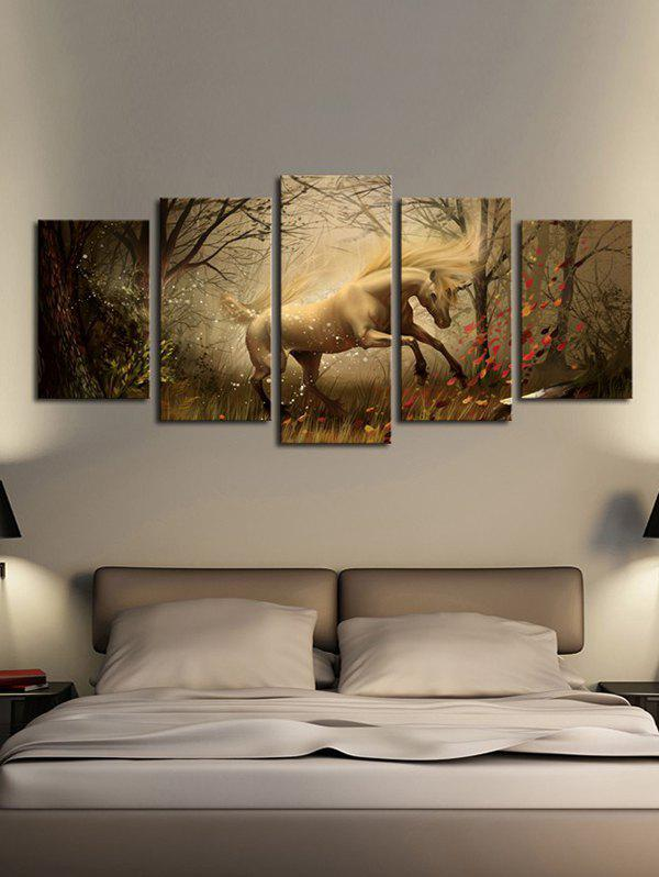 Buy Forest Unicorn Print Unframed Split Canvas Paintings