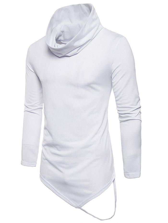 Sale Long Sleeve String Decorated Hem Tee