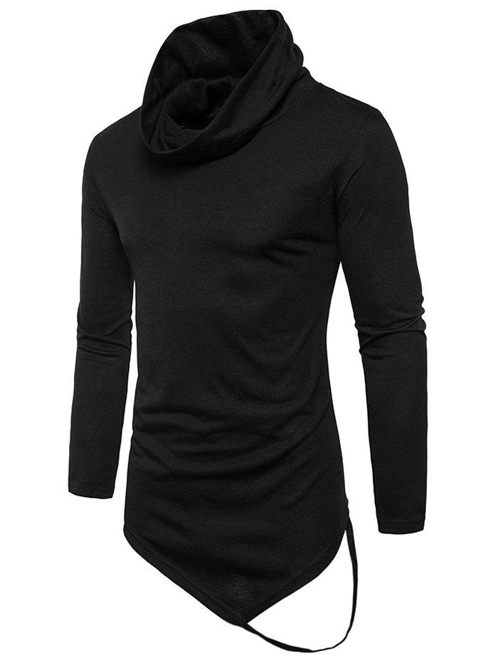 Online Long Sleeve String Decorated Hem Tee