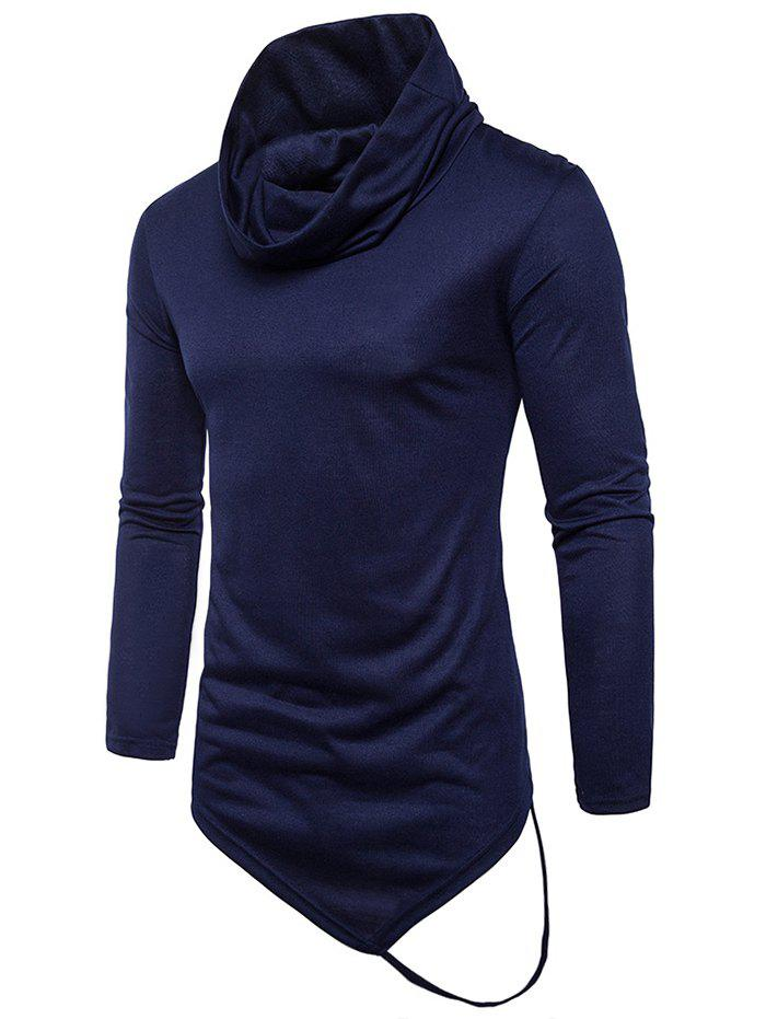 New Long Sleeve String Decorated Hem Tee