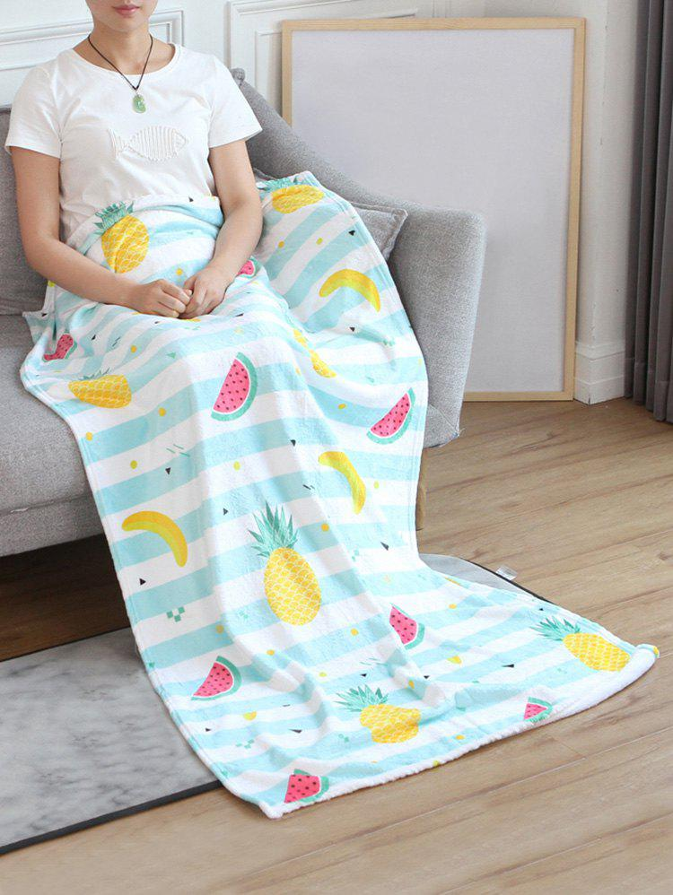 New Pineapple Banana Watermelon Print Flannel Soft Bed Blanket