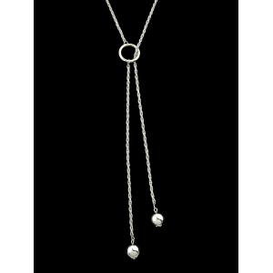 Artificial Pearls Adjustable Chain Necklace -