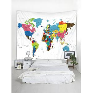 Wall Hanging Art Colorful World Map Print Tapestry -