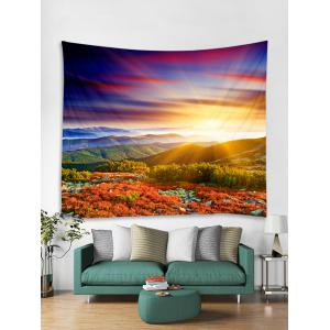 Sunlight Mountains Flowers Scerery Printed Wall Deocr Tapestry -